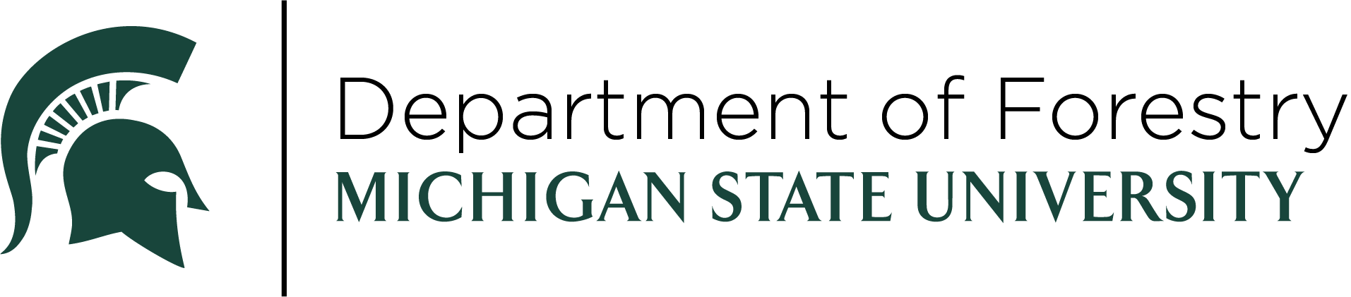 Michigan State University Department of Forestry logo