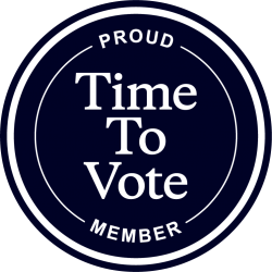 Time To Vote badge